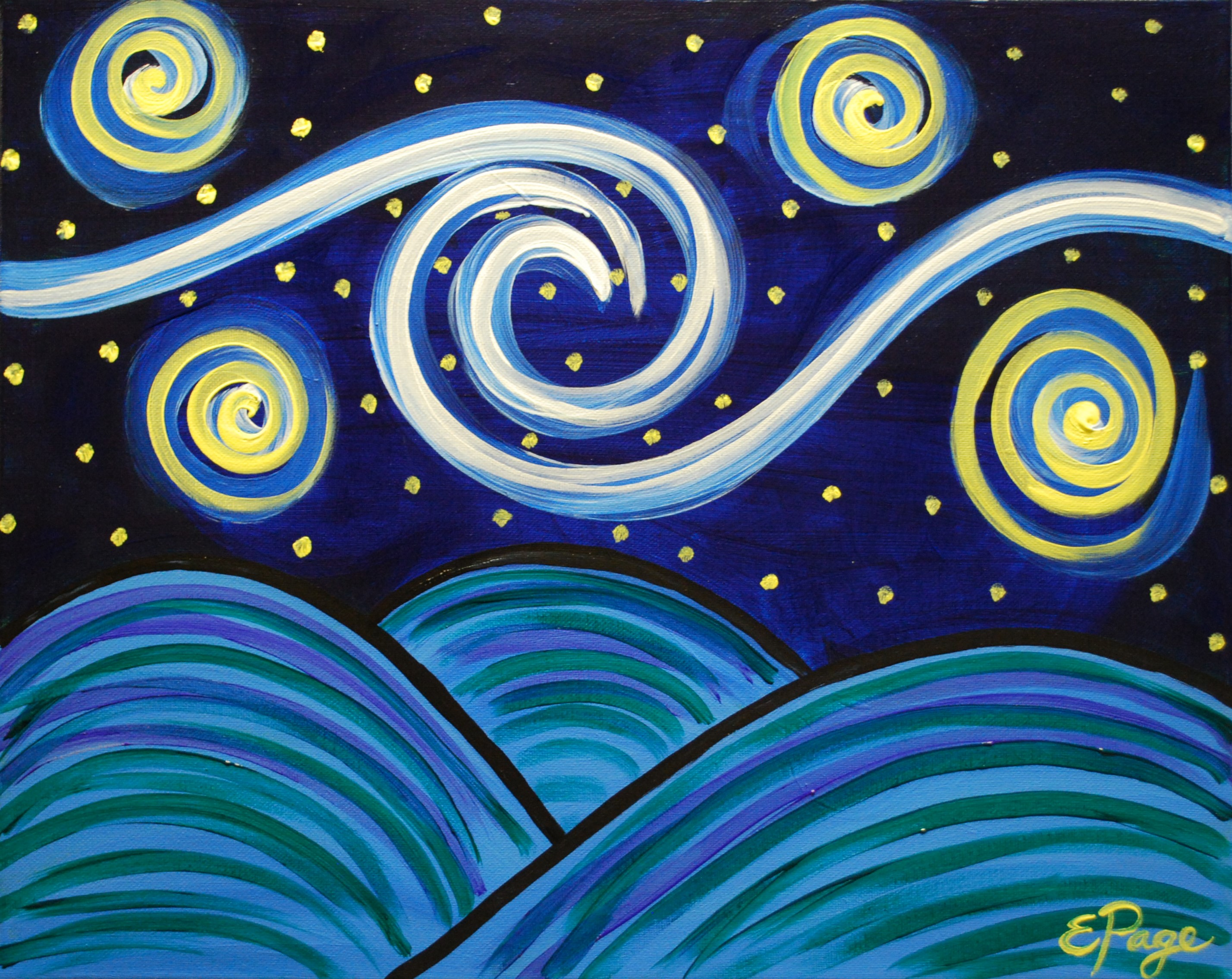 Starry Night for Kids $25